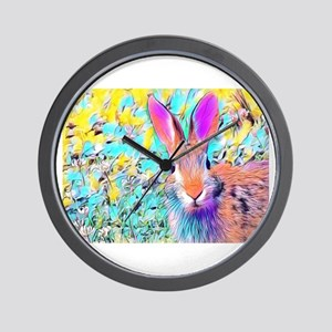 Bunny Rabbit Wall Clock