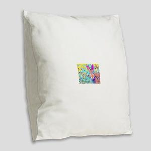Bunny Rabbit Burlap Throw Pillow