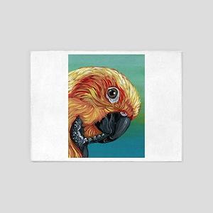 Sun Conure Parrot 5'x7'Area Rug