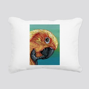 Sun Conure Parrot Rectangular Canvas Pillow