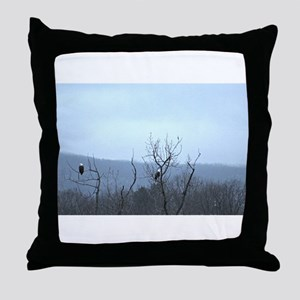Bald Eagles Throw Pillow