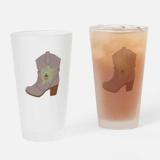 Feather Boot Drinking Glass
