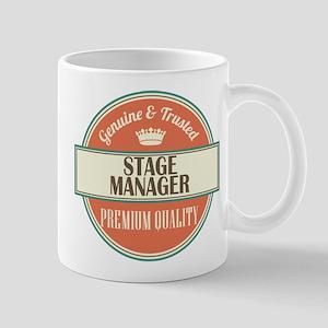 stage manager vintage logo Mug