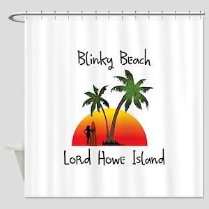 Blinky Beach Shower Curtain