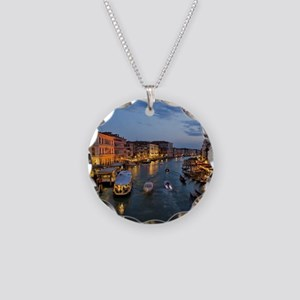 VENICE CANAL Necklace Circle Charm