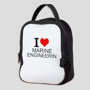 I Love Marine Engineering Neoprene Lunch Bag