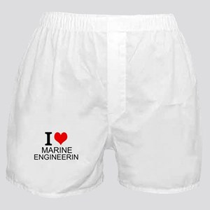 I Love Marine Engineering Boxer Shorts