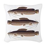 Vundu Catfish Woven Throw Pillow