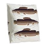 Vundu Catfish Burlap Throw Pillow