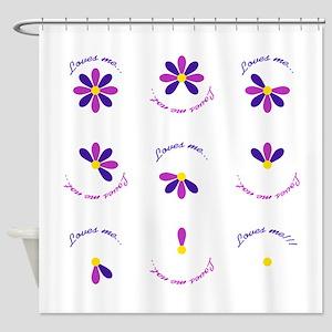 Loves Me...Loves Me Not Shower Curtain