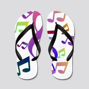 Key sol and music note Flip Flops