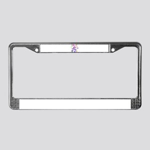 Key sol and music note License Plate Frame