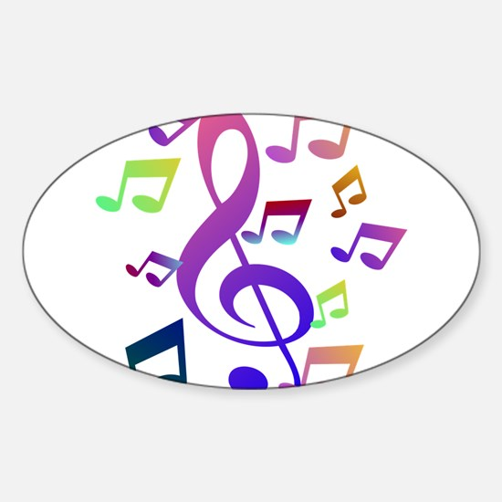 Key sol and music note Decal