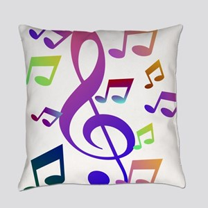 Key sol and music note Everyday Pillow