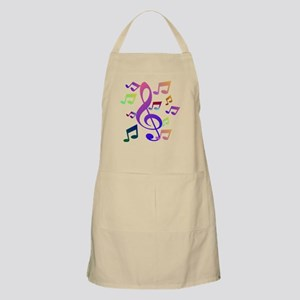 Key sol and music note Apron