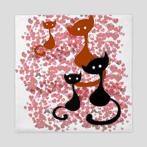 Cat love Queen Duvet