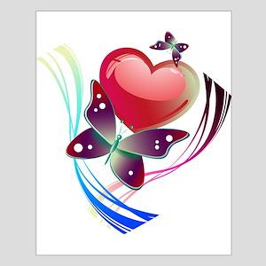 Love Swirl Butterfly Poster Design