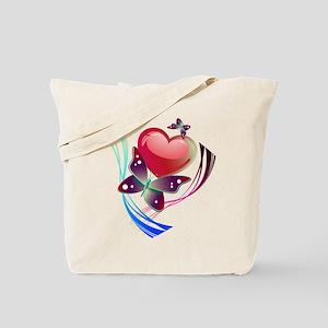 Love Swirl Butterfly Tote Bag