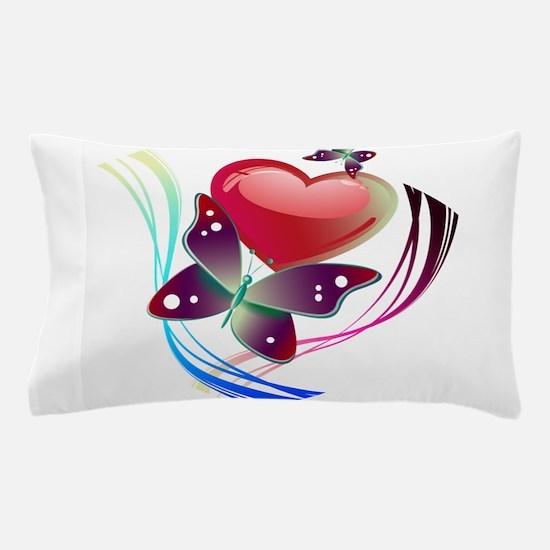 Love Swirl Butterfly Pillow Case