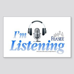 Frasier: I'm Listening Sticker (Rectangle)