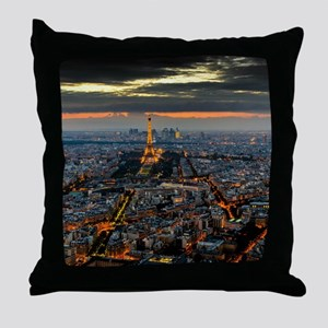 PARIS FROM ABOVE Throw Pillow