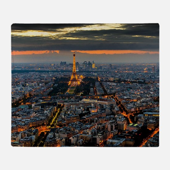 PARIS FROM ABOVE Throw Blanket