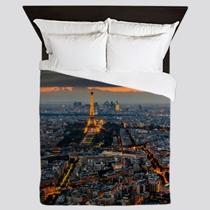 PARIS FROM ABOVE Queen Duvet