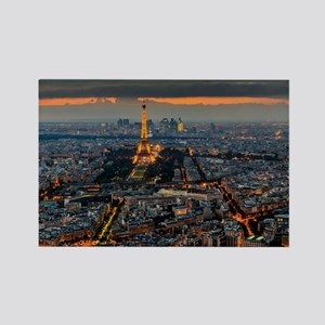 PARIS FROM ABOVE Rectangle Magnet