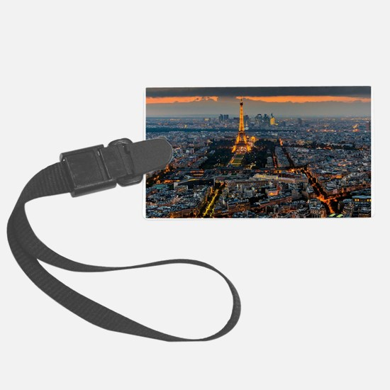 PARIS FROM ABOVE Large Luggage Tag