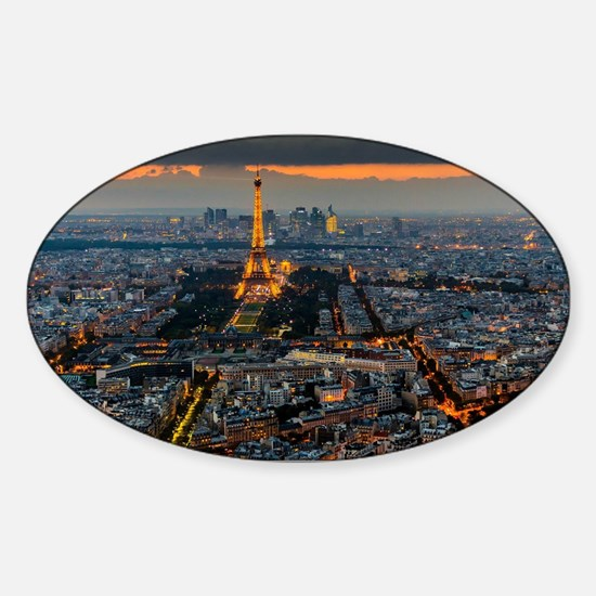 PARIS FROM ABOVE Sticker (Oval)