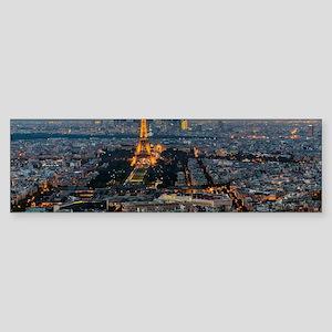 PARIS FROM ABOVE Sticker (Bumper)