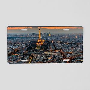 PARIS FROM ABOVE Aluminum License Plate