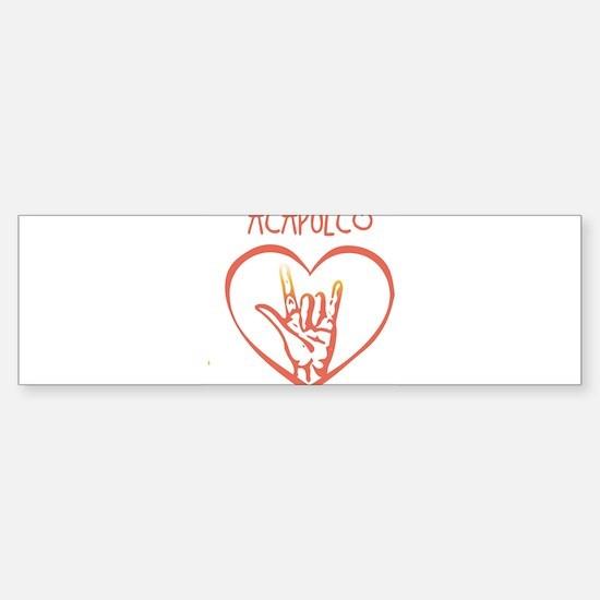 ACAPULCO (hand sign) Bumper Bumper Bumper Sticker