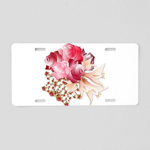 Bouquet of Roses Aluminum License Plate