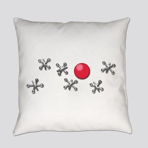 Old Fashioned Ball and Jacks Game Everyday Pillow