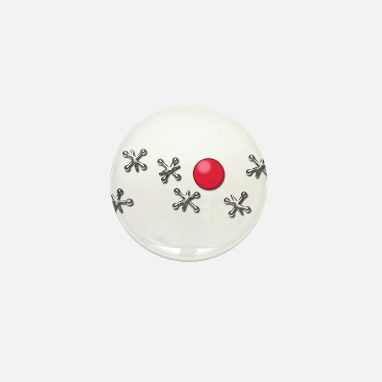 Old Fashioned Ball and Jacks Game Mini Button