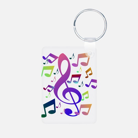 Key sol and music notes Keychains