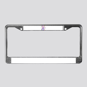 Key sol and music notes License Plate Frame
