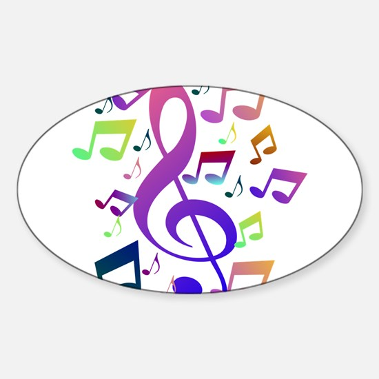 Key sol and music notes Decal
