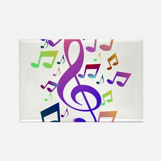 Key sol and music notes Magnets