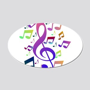 Key sol and music notes Wall Sticker