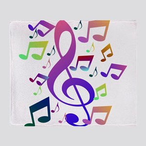 Key sol and music notes Throw Blanket