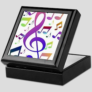 Key sol and music notes Keepsake Box