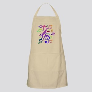 Key sol and music notes Apron