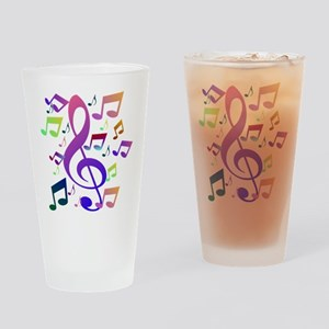 Key sol and music notes Drinking Glass