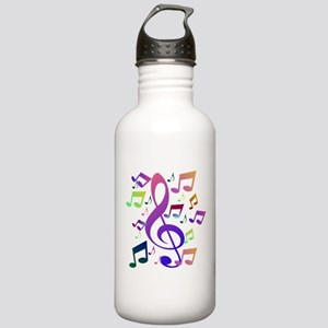 Key sol and music notes Sports Water Bottle