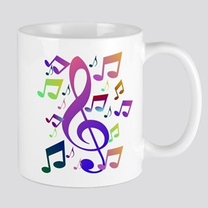 Key sol and music notes Mugs