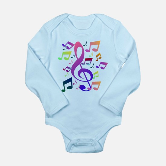 Key sol and music notes Body Suit