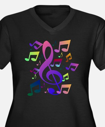 Key sol and music notes Plus Size T-Shirt