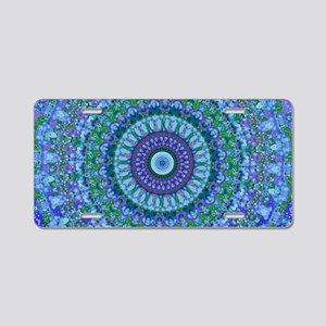 Blue Spirit Mandala Aluminum License Plate